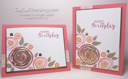 Swirly bird birthday bouquet - two cool