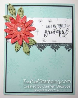 Carmen - grateful scrunched flower