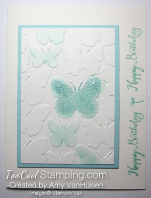 Glittery soft butterfly - amy