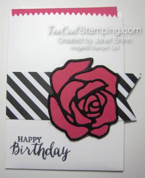 Rose garden pocket card - janet