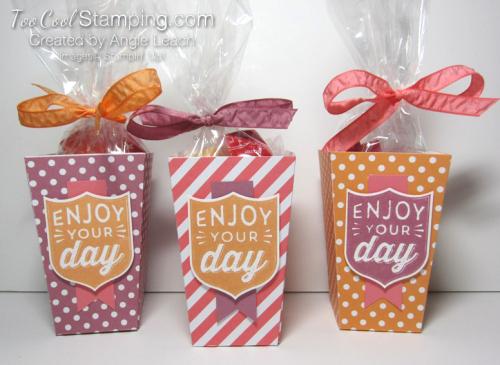 Popcorn boxes - trio