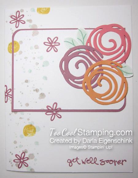 Darla - swirly blooms