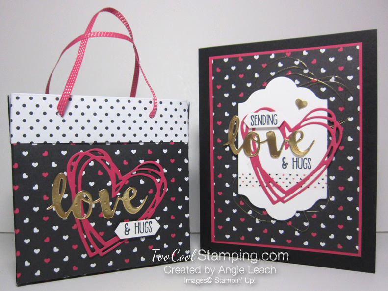 Pink love bag with card