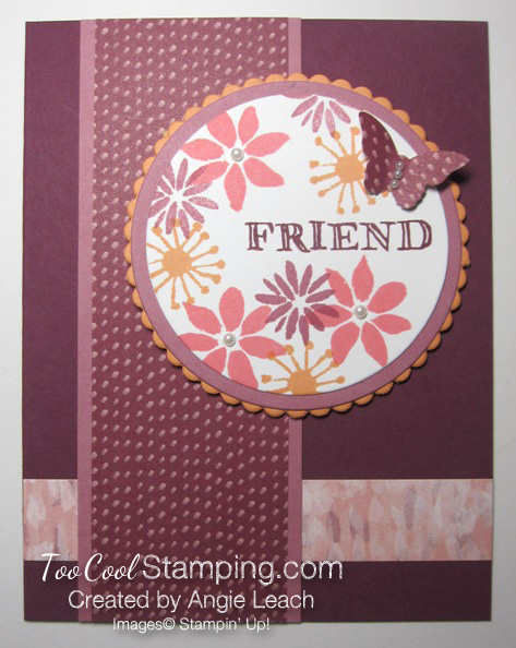 Blooms & wishes medallion - razzleberry
