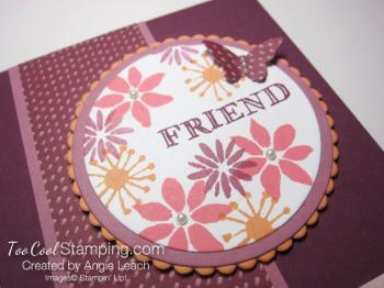 Blooms & wishes medallion - razzleberry 2
