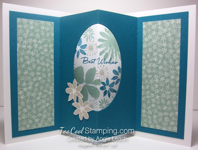 Blooms wishes tunnel card - indigo open
