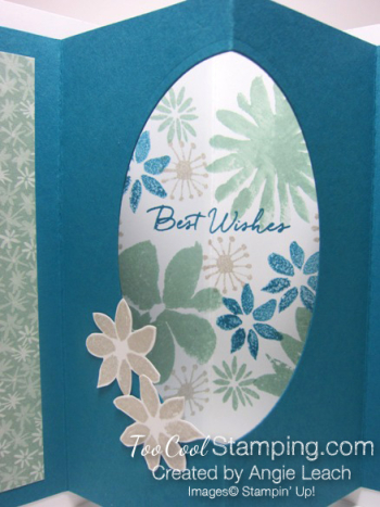 Blooms wishes tunnel card - indigo open2