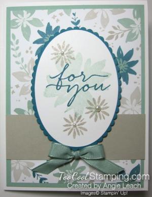 Blooms wishes tunnel card - indigo