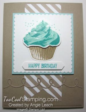 Sweet cupcake birthday - pool stripes
