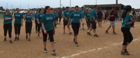 Team walking off field