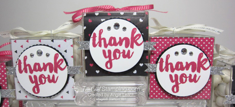 Pop of pink thank you treat boxes - 3 cool fronts