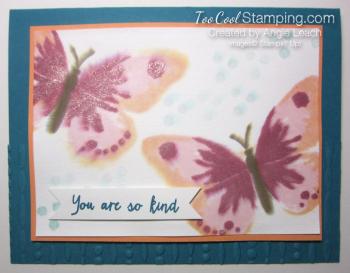 Watercolor wings spritz - indigo