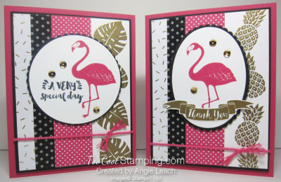 Pop of pink flamingo gold - two cool
