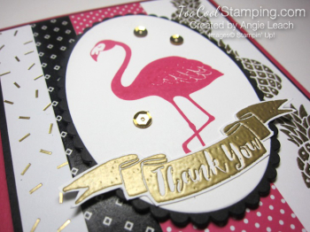 Pop of pink flamingo gold - pineapple oval 3