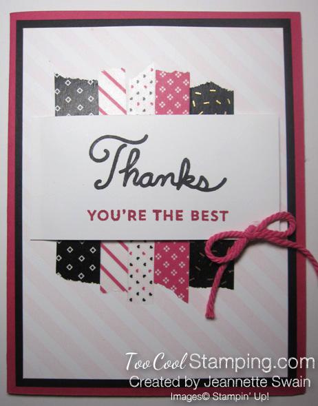 Pop of pink thanks - jeannette swain