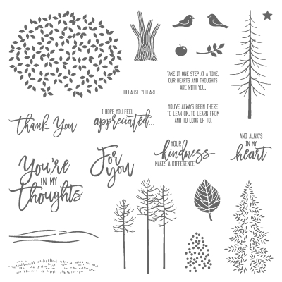 Thoughtful branches stamp 143539G