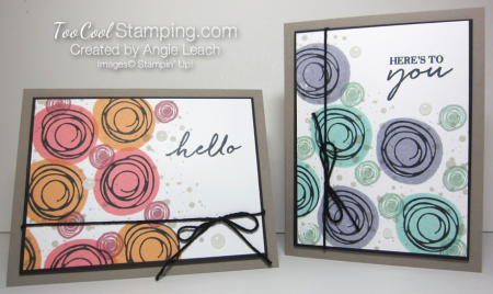 Stamped swirly bouquet - two cool