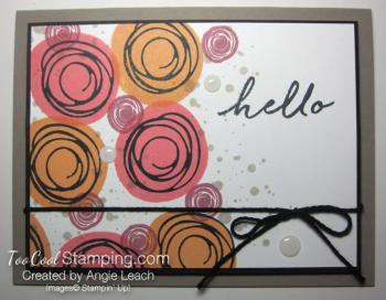 Stamped swirly bouquet - warm