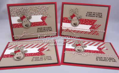 Cookie cutter christmas reindeer - four cool