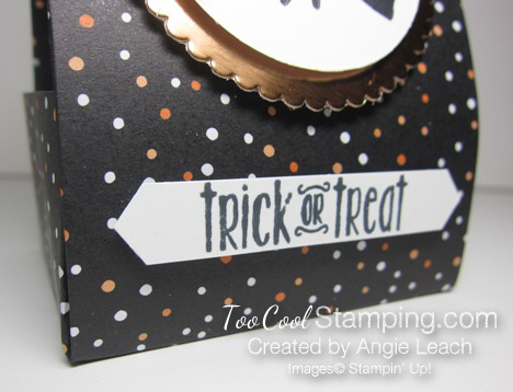 Spooky fun halloween treat totes - black dots witch 4