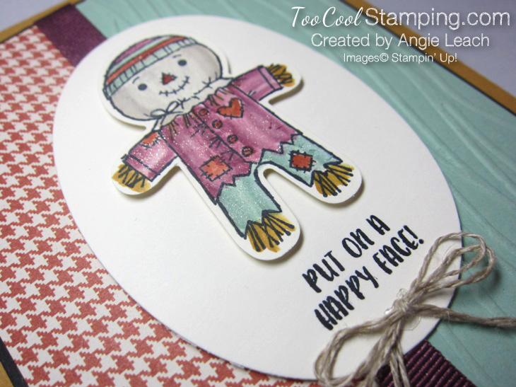 Cookie cutter halloween scarecrow - mint2