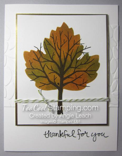 Sponged maple tree - thankful