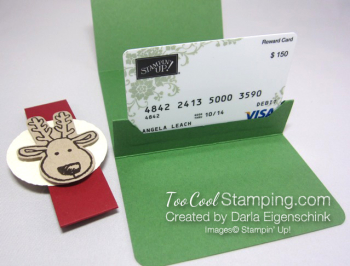 Darla this christmas gift card holder - rudolph 2