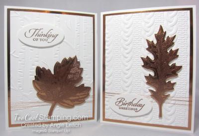Copper Vintage Leaf - two cool