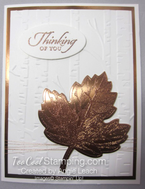 Copper Vintage Leaf - thinking maple