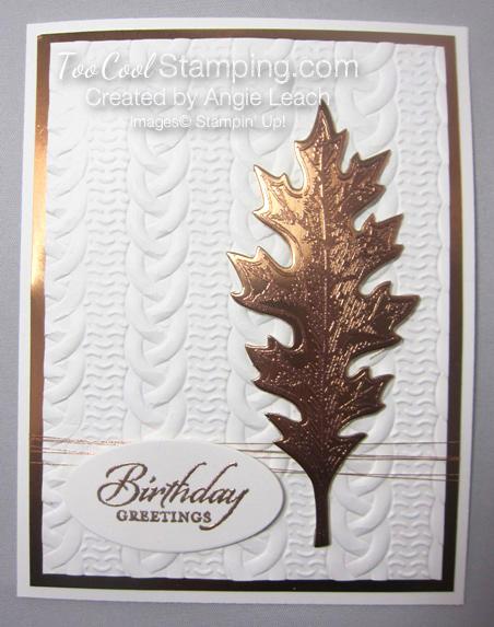 Copper Vintage Leaf - birthday oak