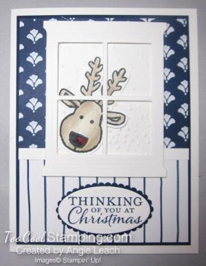 Peeking reindeer left