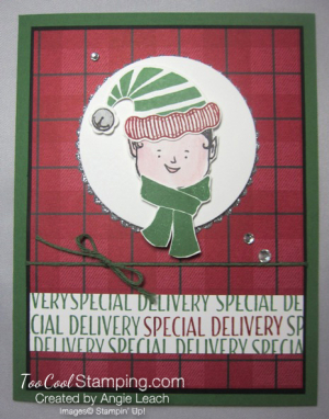 Jolly friends elf - red plaid