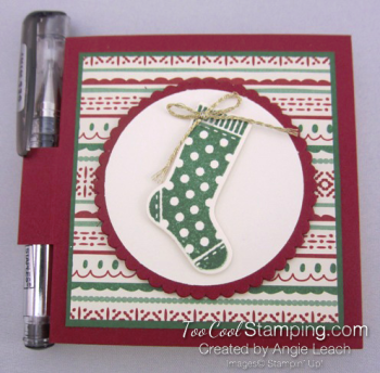 Hang Stocking Sticky Notes - cherry