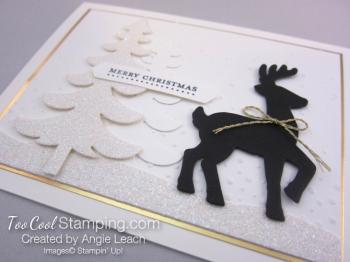 Dazzling reindeer silhouette - wide 2