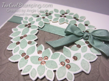 Embossed wonderful wreath - copper 2