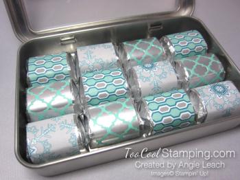 Nugget tins - snowflake wraps