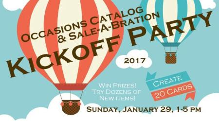 2017 Kickoff Party Logo - hot air balloons details