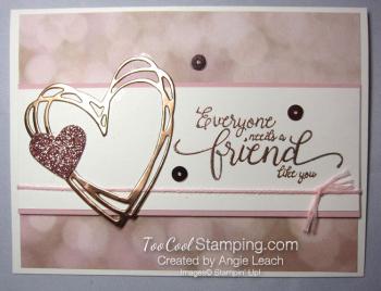 Falling in love hearts - friend like you