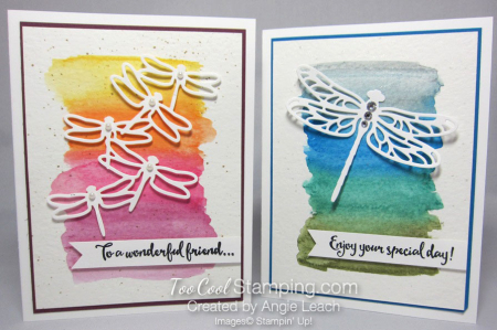Dragonfly watercolor wash - two cool