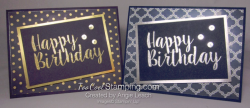 Big on Birthdays Fabulous Foil - two cool