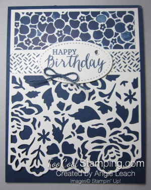 White Floral Details layered - birthday