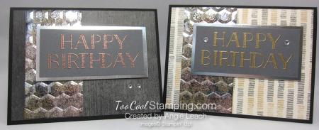 Big On Birthdays Tarnished Foil - two cool