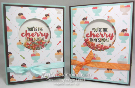 Cool Treats Shaker Card - two cool