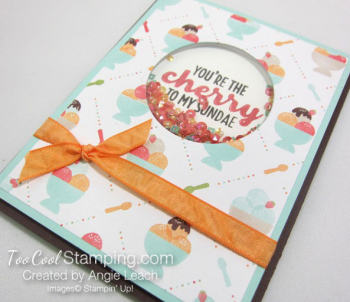 Cool Treats Shaker Card - peach