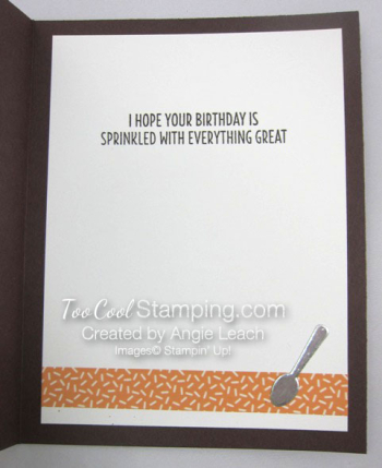 Cool Treats Shaker Card - peach 2