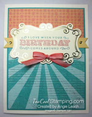 Cupcakes & carousels birthday - bow
