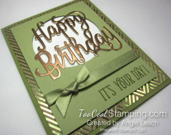 Happy birthday gorgeous copper foil - pear 2