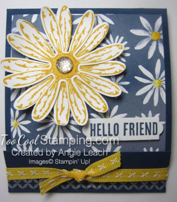 Delightful daisy post it note holder - navy