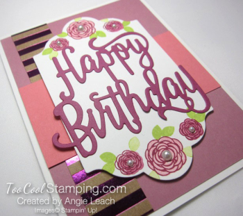 Happy birthday gorgeous floral - sugarplum 2