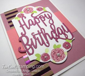 Happy birthday gorgeous floral - sugarplum 2